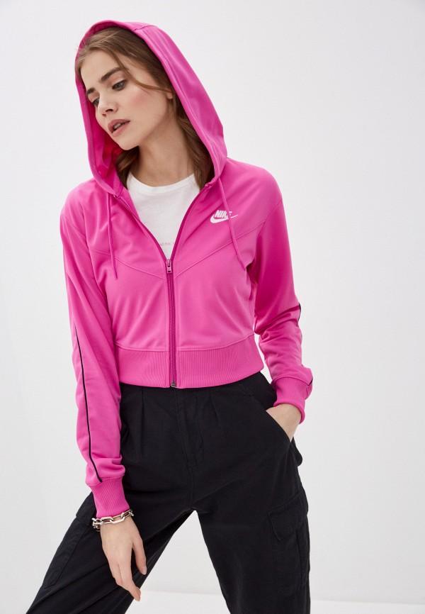 женская толстовка nike, розовая