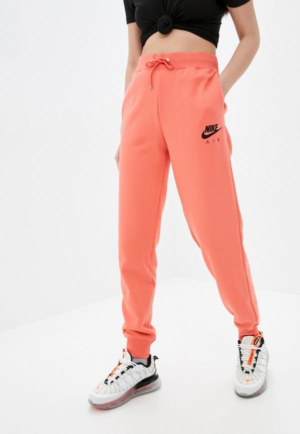женские спортивные брюки nike, оранжевые