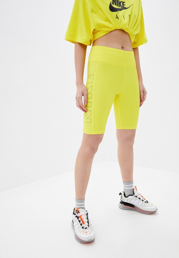 женские спортивные шорты nike, желтые