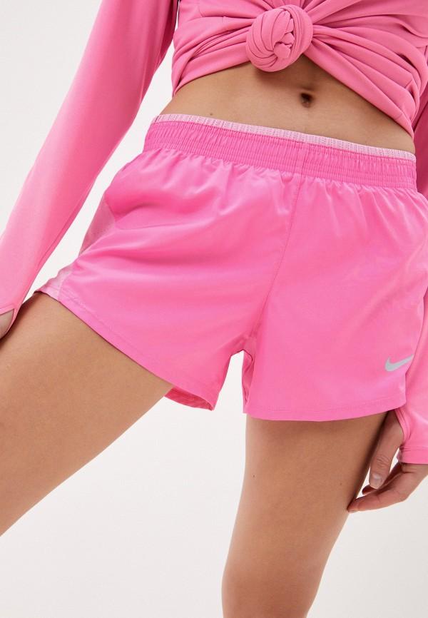 женские спортивные шорты nike, розовые