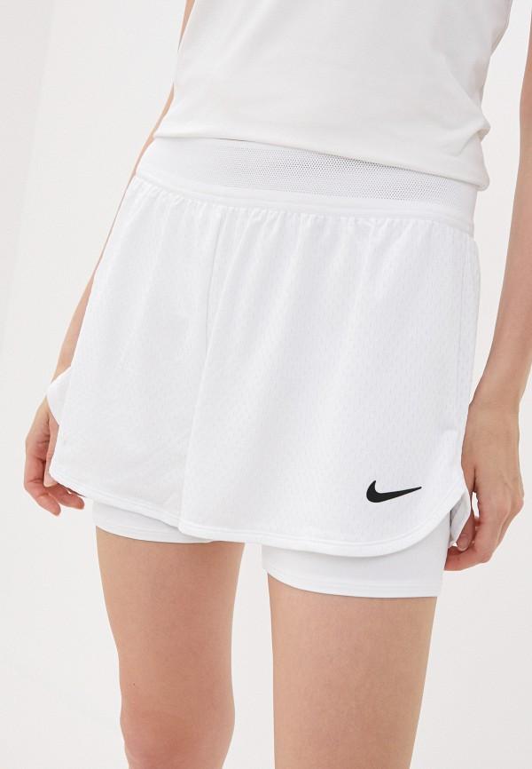 женские спортивные шорты nike, белые