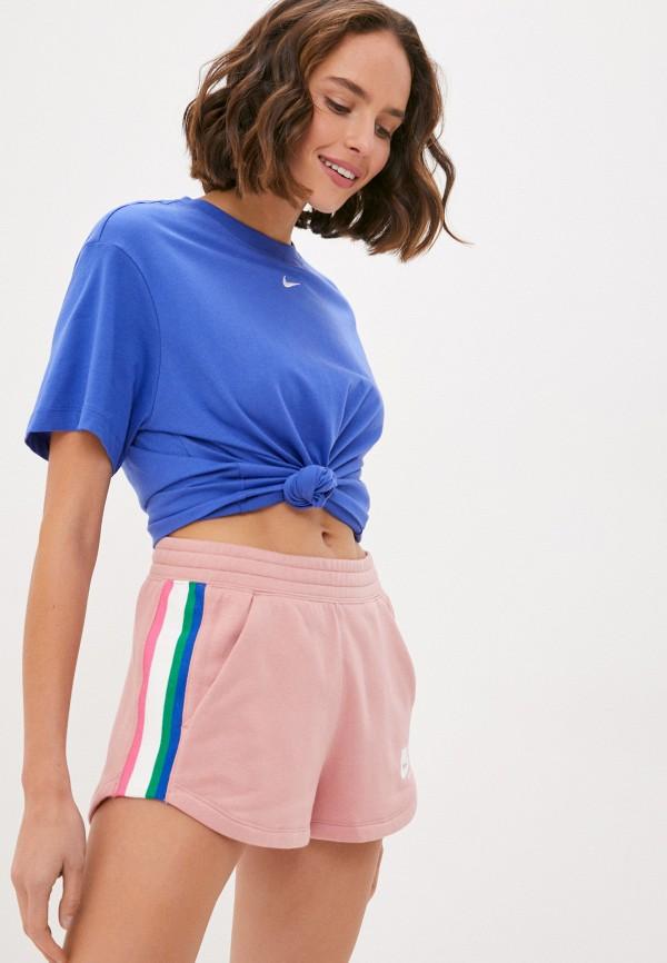 женская спортивные футболка nike, синяя