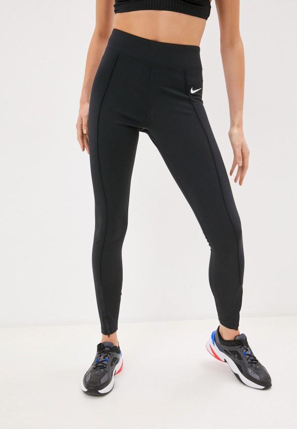 женские спортивные леггинсы nike, черные
