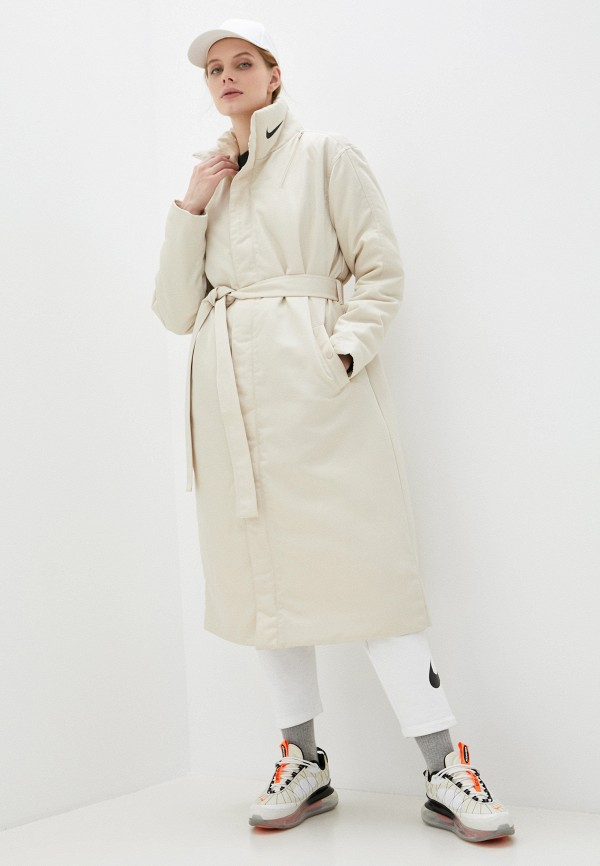 женская куртка nike, бежевая