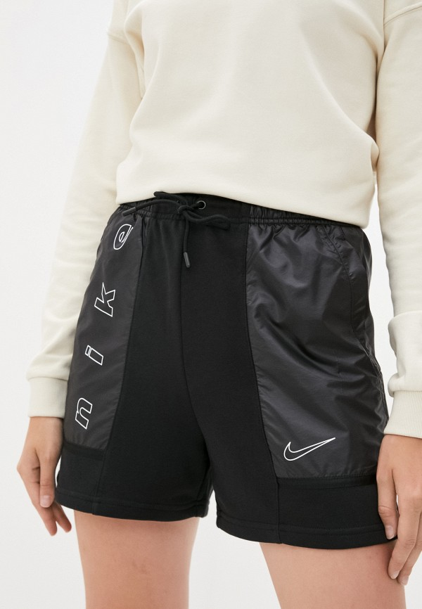 женские спортивные шорты nike, черные