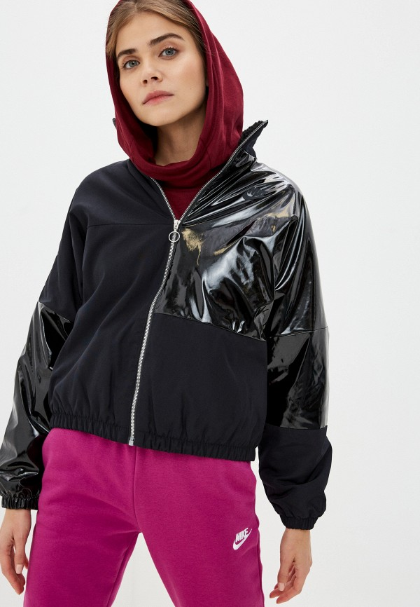 женская куртка nike, черная