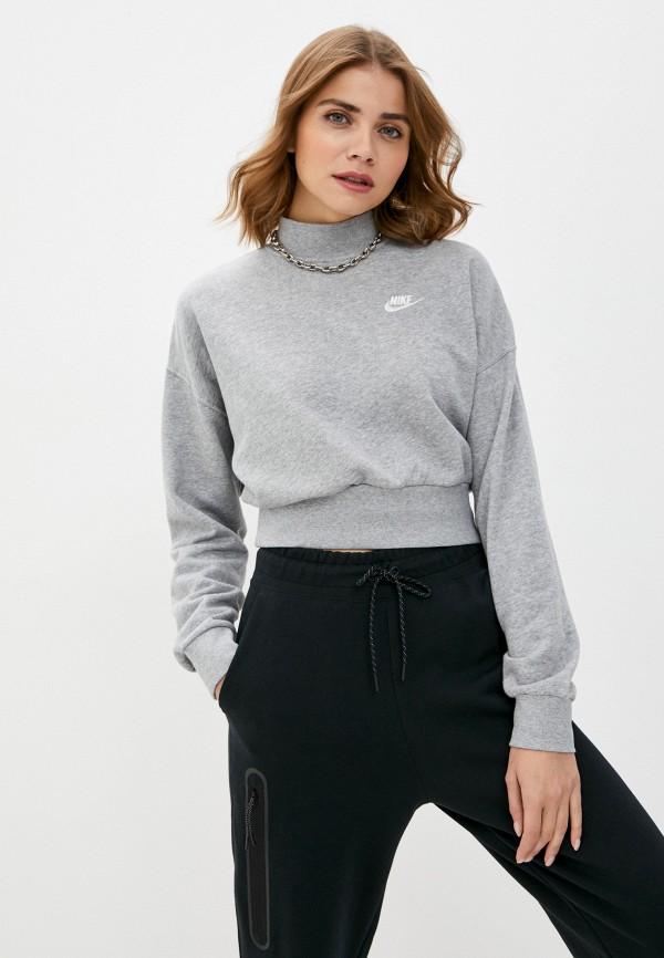 женский свитшот nike, серый