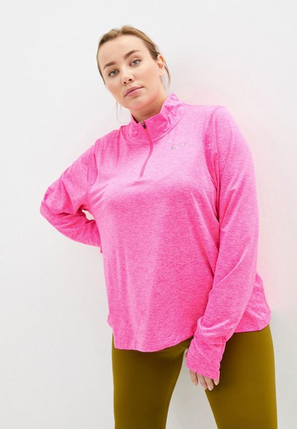 женский лонгслив nike, розовый