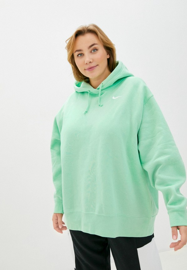 женские худи nike, зеленые