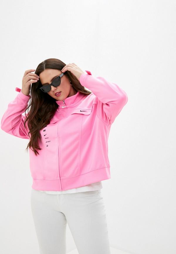 женская спортивные олимпийка nike, розовая