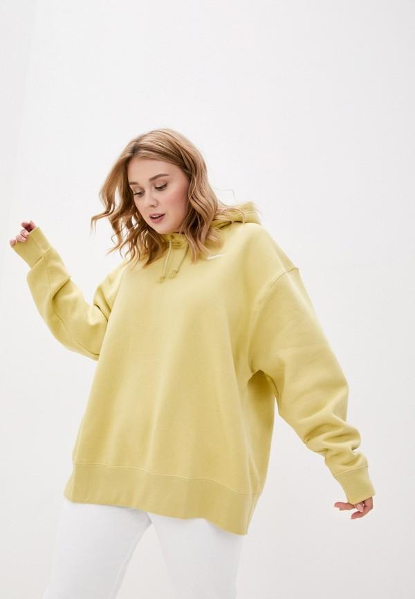 женские худи nike, желтые