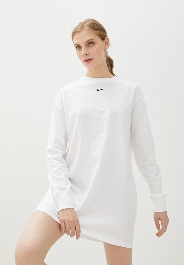женское спортивные платье nike, белое