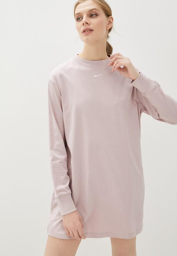 женское спортивные платье nike, розовое