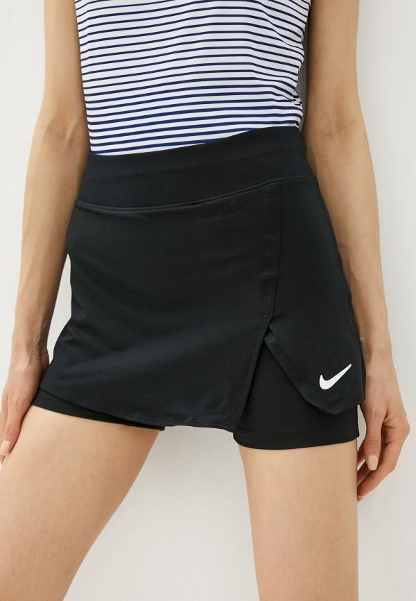 женская спортивные юбка nike, черная