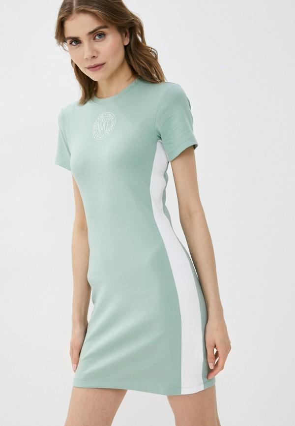 женское платье-футболки nike, зеленое
