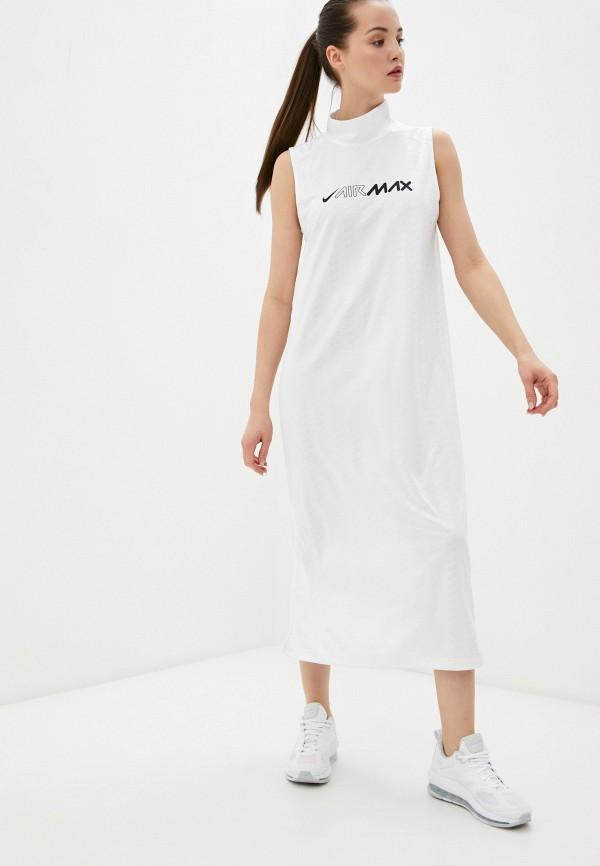 женское платье-футболки nike, белое