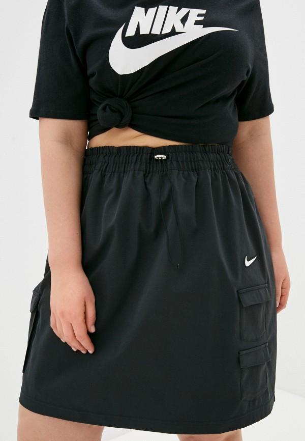 женская прямые юбка nike, черная