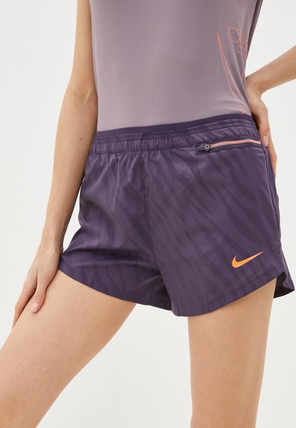 женские спортивные шорты nike, фиолетовые