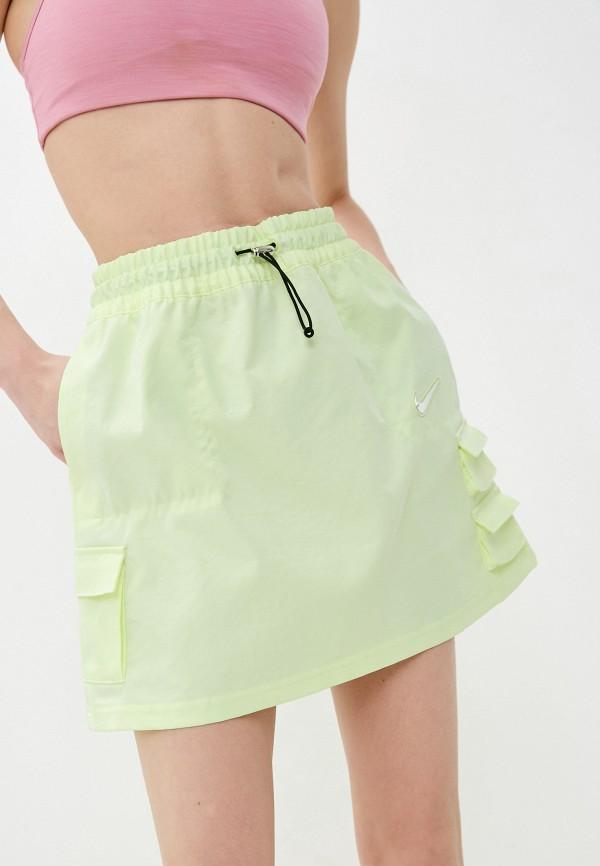 женская юбка-трапеции nike, желтая