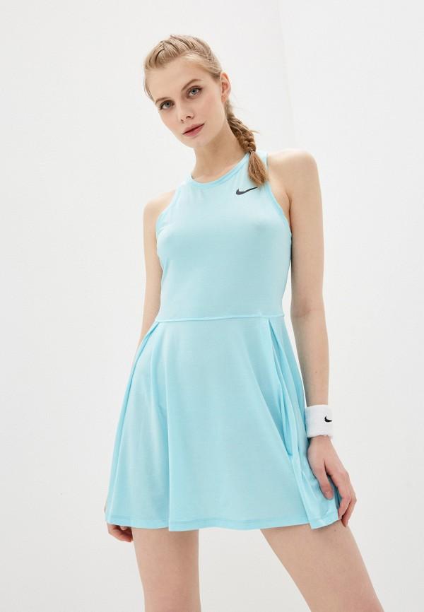 женское спортивные платье nike, бирюзовое
