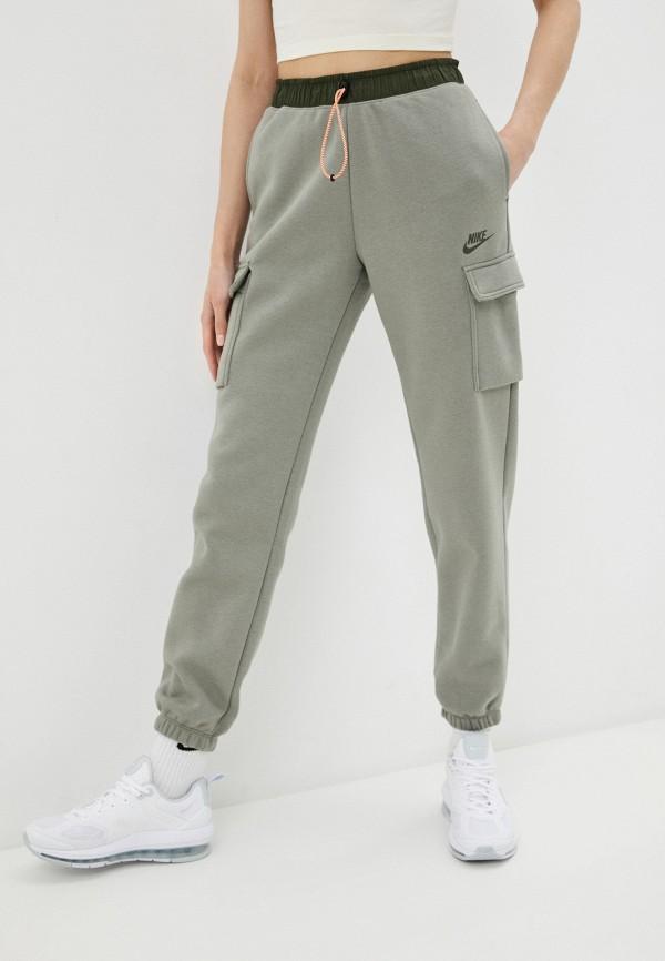 женские брюки карго nike, зеленые