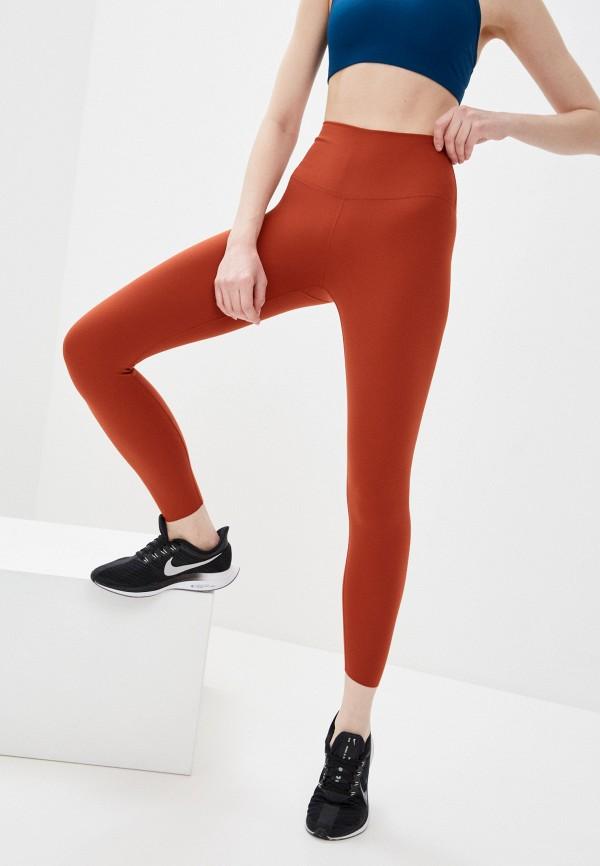 женские спортивные леггинсы nike, оранжевые