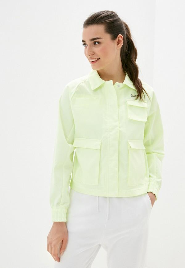женская спортивные куртка nike, желтая