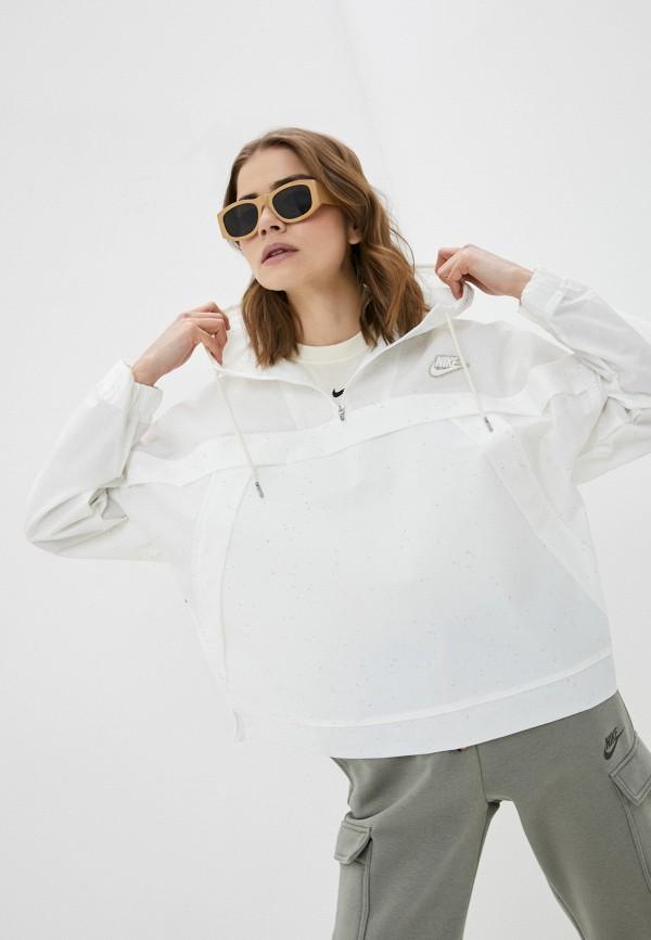 женская спортивные куртка nike, белая