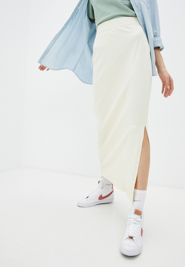 женская спортивные юбка nike, бежевая