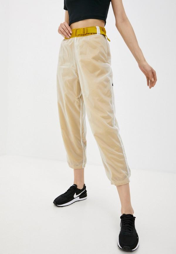 женские спортивные брюки nike, бежевые