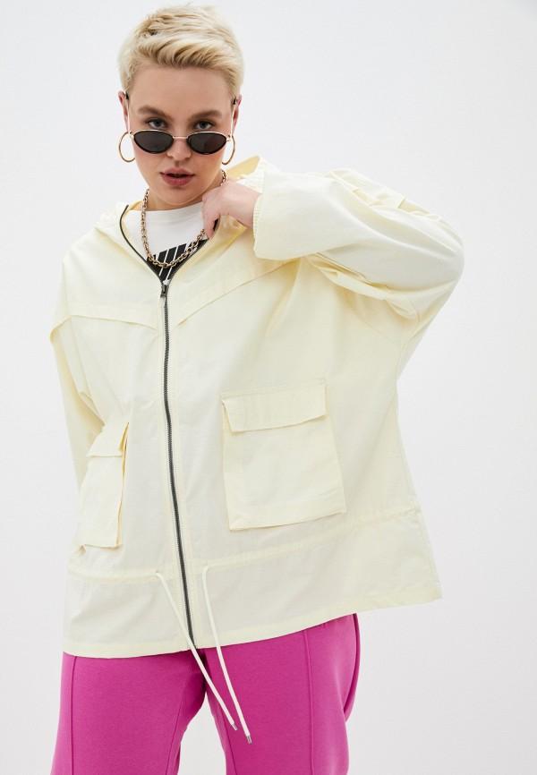 женская куртка nike, желтая
