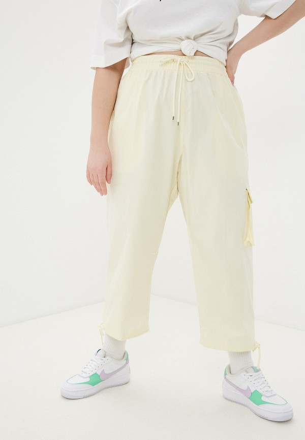 женские повседневные брюки nike, желтые