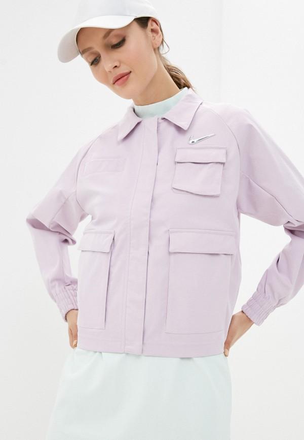 женская спортивные куртка nike, фиолетовая