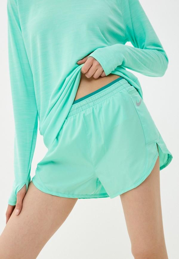 женские спортивные шорты nike, зеленые