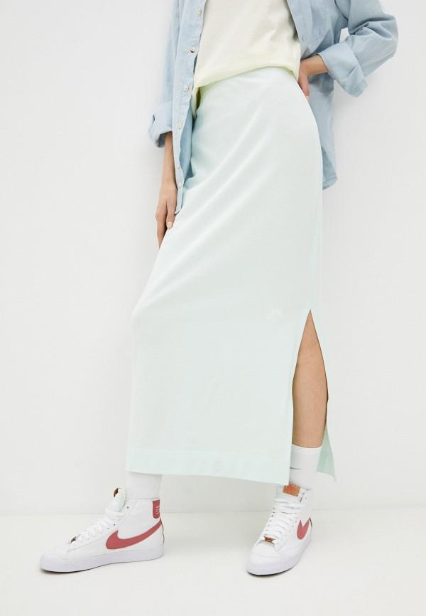 женская спортивные юбка nike, зеленая