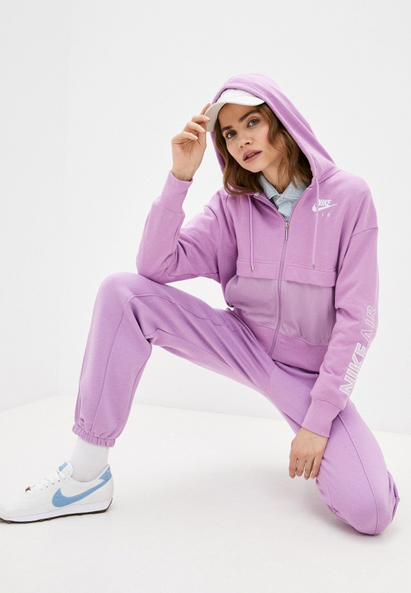 женская толстовка nike, фиолетовая