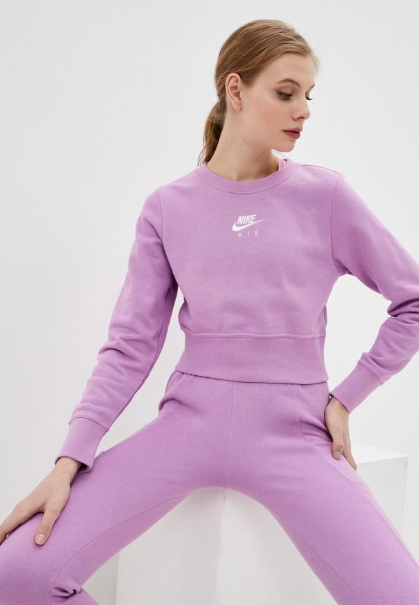 женский спортивные свитшот nike, фиолетовый
