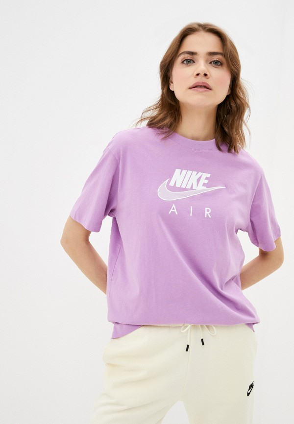 женская спортивные футболка nike, фиолетовая