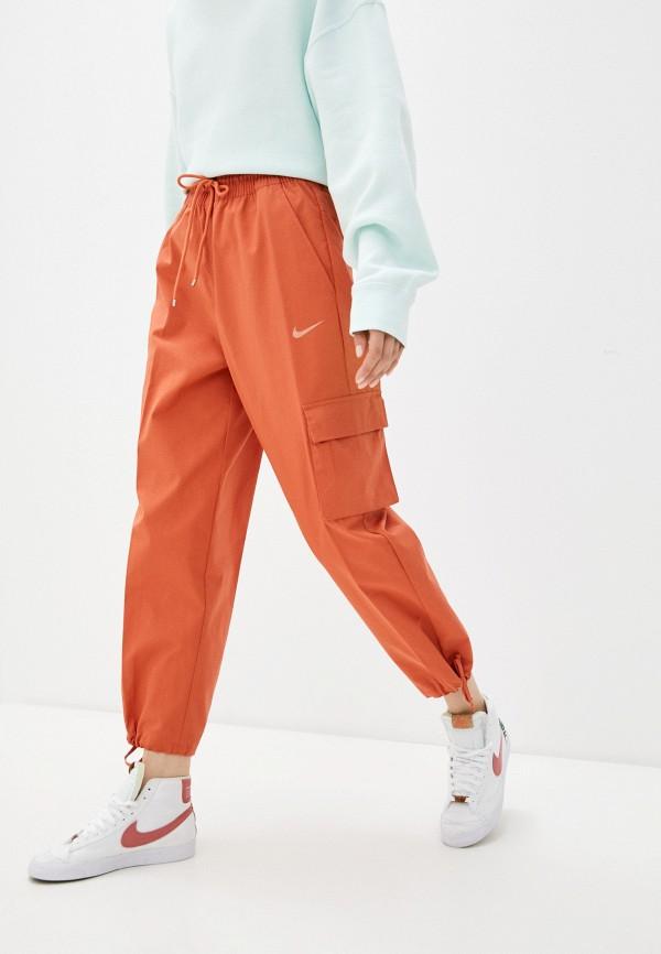 женские брюки карго nike, оранжевые