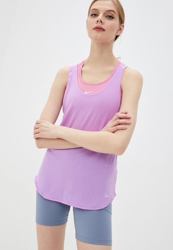 женская спортивные майка nike, фиолетовая