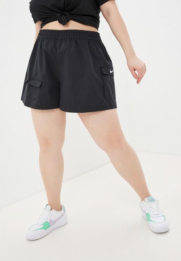 женские повседневные шорты nike, черные