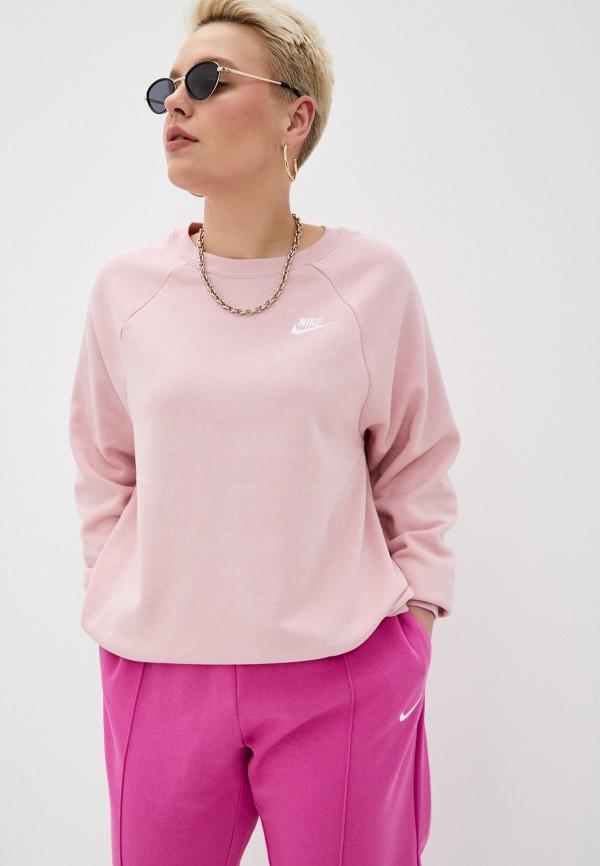 женский свитшот nike, розовый