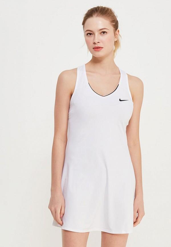 Купить Платье Nike, W NKCT PURE DRSS, NI464EWPKV41, белый, Весна-лето 2018