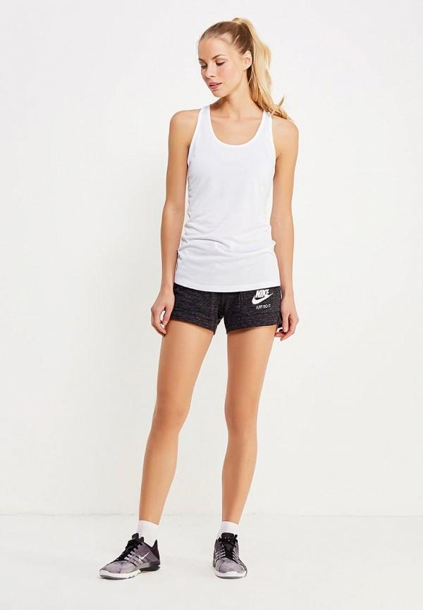 Фото 2 - женские шорты Nike черного цвета