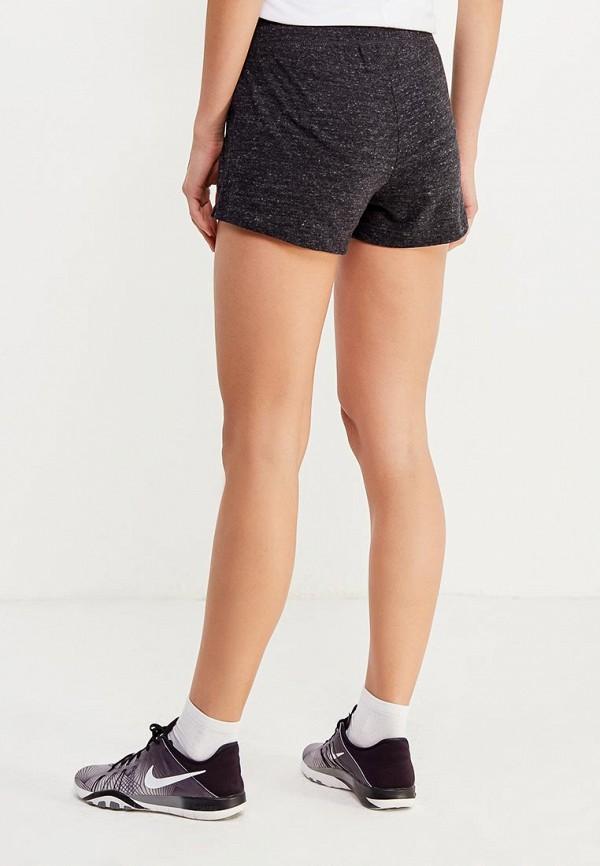 Фото 3 - женские шорты Nike черного цвета