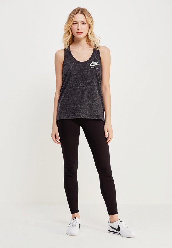 Фото 2 - Майку Nike серого цвета