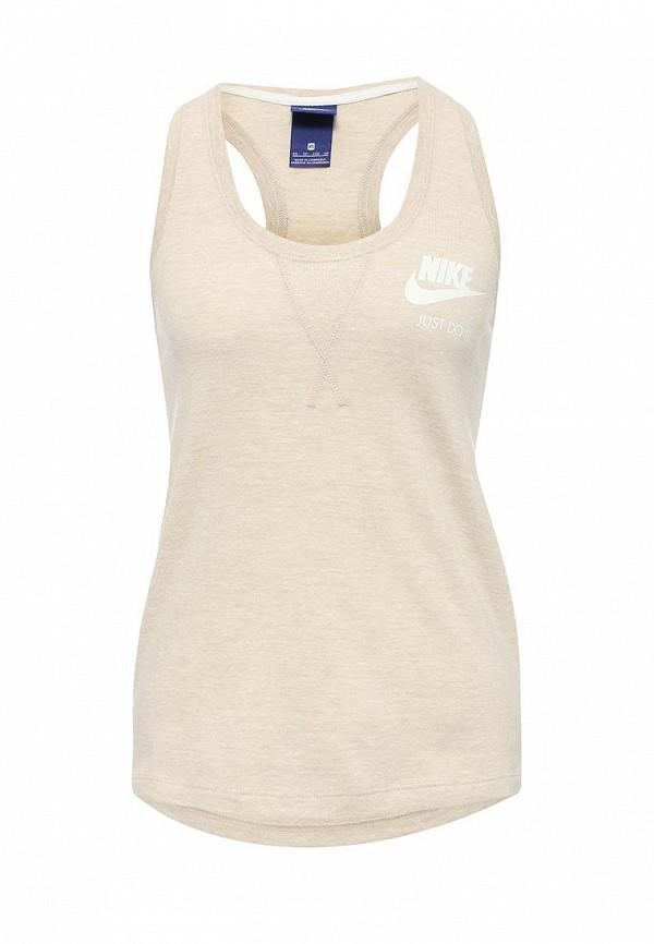 Купить Майка спортивная Nike, Nike Sportswear Gym Vintage Women's Tank, ni464ewrzc21, бежевый, Весна-лето 2017