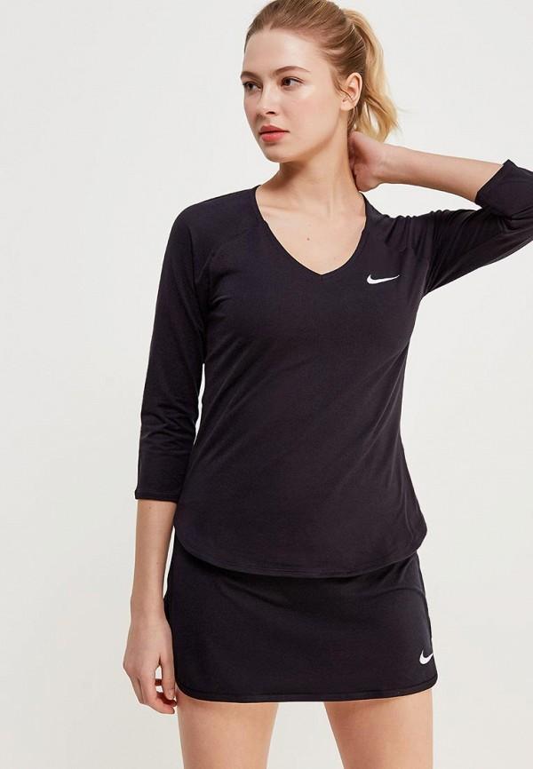 Купить Лонгслив спортивный Nike, W NKCT TOP PURE 3QT, NI464EWRZC59, черный, Осень-зима 2018/2019
