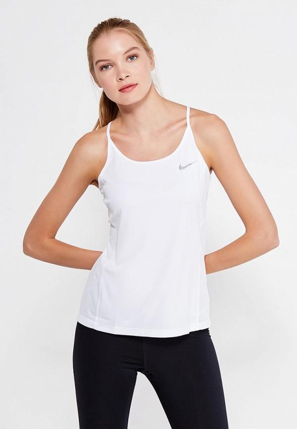 Купить Майка спортивная Nike, W NK DRY MILER TANK, NI464EWRZC77, белый, Осень-зима 2017/2018