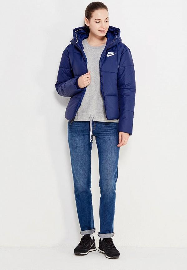 Фото 2 - Куртку утепленная Nike синего цвета